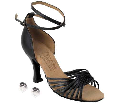 Bellissime Scarpe Da Ballo Da Donna Per Donna Eks1001 Con 3 Tacco In Pelle Nera