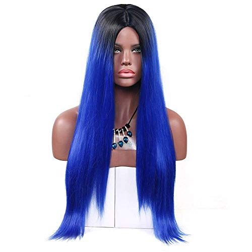 Aoert Long Ombre Straight Wig for Women Heat Resistant Synthetic Wig Cosplay Hair Replacement Wigs for Party, Prom 26