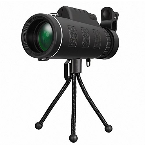 Zcargel Outdoor Phone Telescope, Single Tube 40X60 HD Dual Cell Phone Binoculars with Compass, Optics Zoom Telescope Adjustable Phone Lens for iPhone/Android/Pad by Zcargel