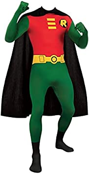 GREEN SKIN SUIT ADULT  FANCY DRESS COSTUME SECOND SKIN ONSIE ALL IN ONE OUTFIT