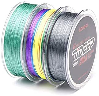 LONPAR Premium Braided Fishing Line 8 Strands 20LB – 100LB Highly Sensitivity and Zero Stretch Braided Line for Saltwater and Freshwater