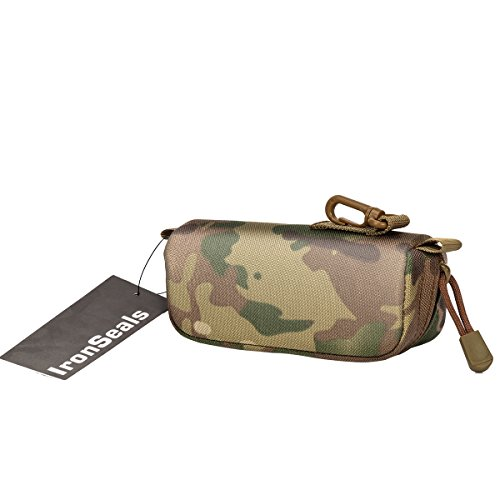IronSeals Tactical Sunglasses Case, Tactical Zipper Portable Eyeglasses Carrying Case Sunglasses Hard Case Glasses Pouch by IronSeals