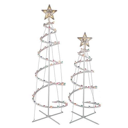 Wondershop Christmas Xmas Decor Decoration Lights Indoor Outdoor Incandescent Spiral Trees Multicolored (2ct)