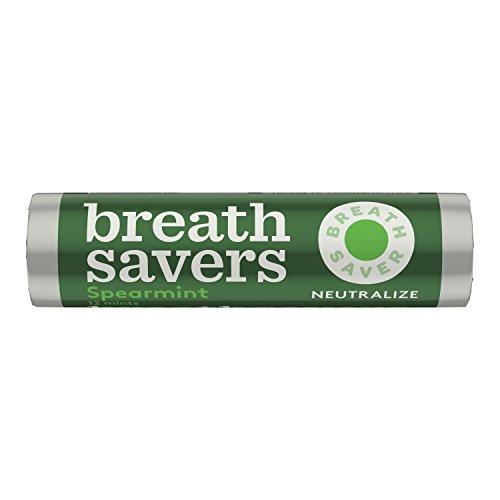 BREATH SAVERS Mints, Spearmint, Sugar Free, 0.75 Ounce Roll (Pack of (Halloween Ice Breakers)