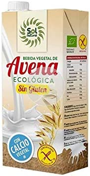 SOLNATURAL 8435037810001 BEBIDA DE AVENA CALCIO SIN GLUTEN BIO 1 L, Plástico: Amazon.es: Hogar