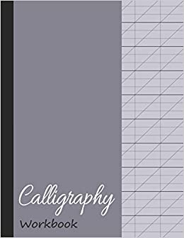image relating to Red and Blue Lined Handwriting Paper Printable called Calligraphy Workbook: Blank Included Handwriting Prepare Paper