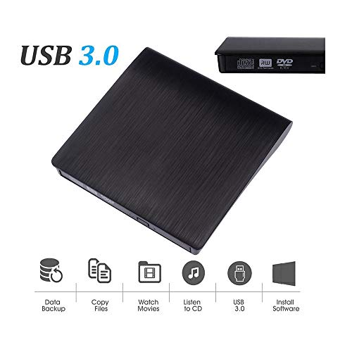Lljin USB 3.0 External DVD CD Drive High Speed Data Transfer DVD±RW DVD-ROM Burner (Ship from US) (Cd Dvd Printer Burner)