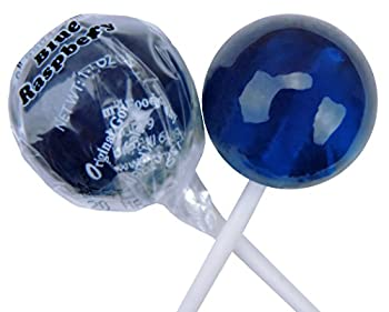 Original Gourmet Lollipops, Blue Raspberry, (Pack of 30)