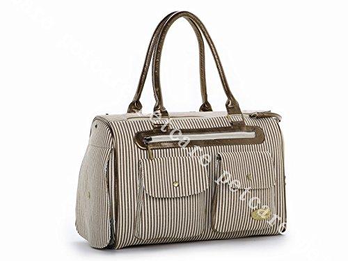 Dogloveit Fashion Dog Carrier Dog Handbag Dog Purse Tote Bag Pet Cat Dog Hiking Backpack, Khaki