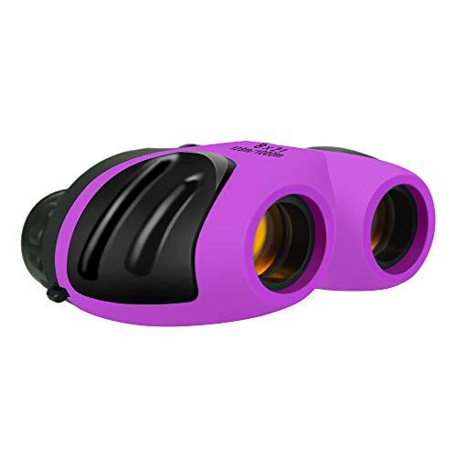 ATOPDREAM Birthday Gifts for 5-8 Year Old Boys Girls, TOPTOY Shockproof Camping Hunting Binoculars for Kids Bird Watching Toys for 3-12 Year Old Boys Girls Purple TTUSTT06