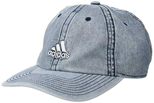 adidas Men's Estate Relaxed Adjustable Cap, Denim Wash, One Size