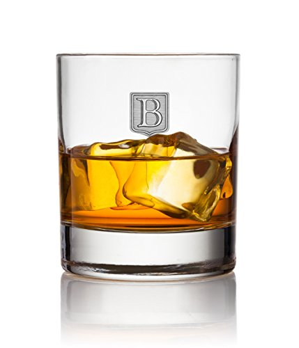 Crested Classic Whiskey Glass 2pk - Letter (B)