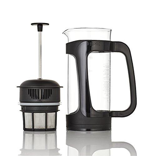 Espro 1432C-BK Coffee Press P3-32 oz, Glass and Black Plastic, 32-oz,