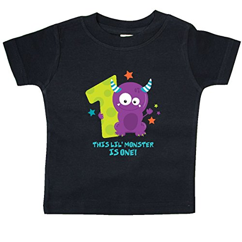 inktastic - Monster 1st Birthday Baby T-Shirt 18 Months Black -
