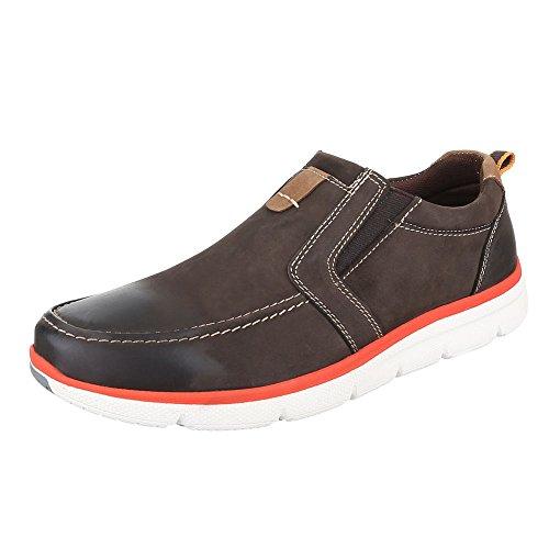 Ital-Design - Zapatillas de casa Hombre marrón