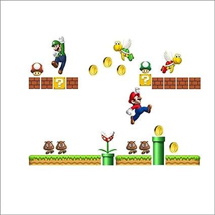 Adesivi Murali Super Mario Bros.Adesivo Da Parete Rimovibile Fai Da Te Decalcomanie Per La Casa