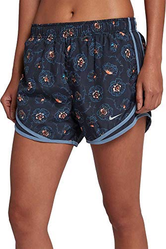 Nike Women's Dry Floral Printed 3'' Tempo Running Shorts (Obsidian, XX-Large)