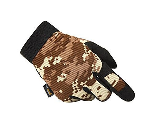 PANDA SUPERSTORE [Digital Desert] Wear-Resistant Rock Climbing Hunting Gloves, L