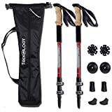 TREKY Collapsible Lightweight Trekking Poles - Adjustable Aluminum Telescopic Hiking Pole or Walking