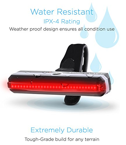 Aduro Sport LED Rear Bike Light USB Rechargeable - Ultra Bright Powerful Safety Taillight, 6 Light Mode Options, One Touch Mount and Dismount, IPX4 Waterproof, for All Bikes by Aduro (Image #4)