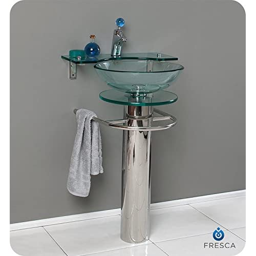 "Fresca CMB1019 Ovale 24"" Modern Glass Bathroom Pedestal delicate"