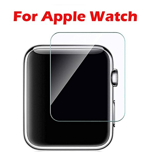 Price comparison product image Apple Watch Screen Protector 38mm / 42mm [2-Pack],  (Series 3 / 2 / 1 Compatible) Tempered Glass Full Coverage Screen Protector for Apple Watch HD Anti-Bubble Film Self-Healing UV-Resistant (38mm)