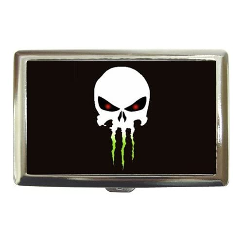 Amazon.com : The Punisher Skull Monster Energy Logo Cigarette Case