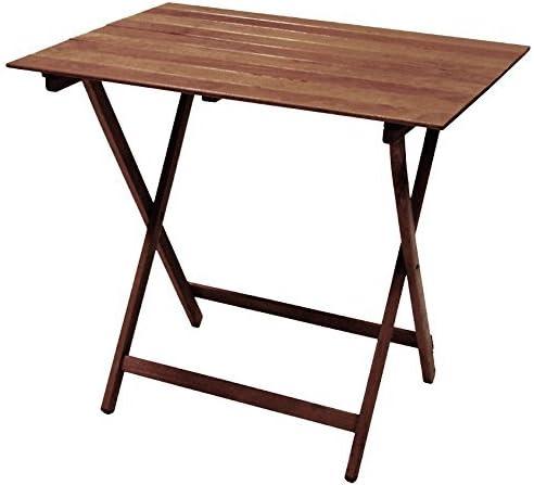 Mesa plegable de madera de nogal, plegable, 60 x 95 cm, para camping, jardín, casa: Amazon.es: Jardín