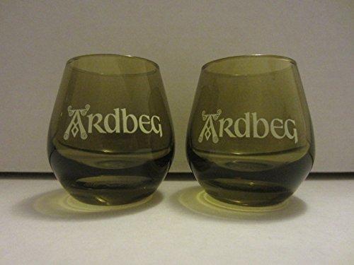 Set of 2 Ardbeg Distillery Islay Single Malt Scotch Whisky Green Glass Round Shot (Scotch Single Malt Whisky)