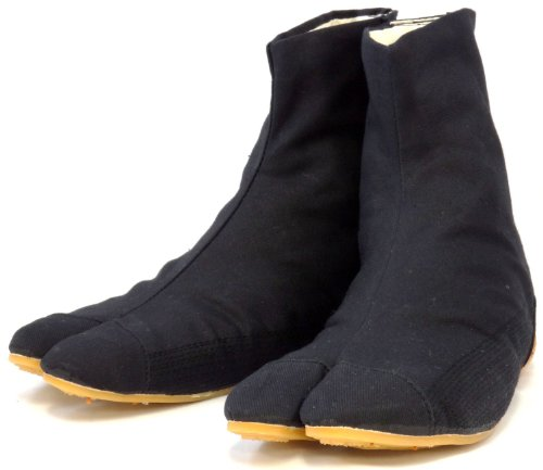 Chaussures de Ninja Confort Semi-montantes Tabi Japonaise Authentique (JP 25.5 approx. FR 40 EU 40 UK 6.5)