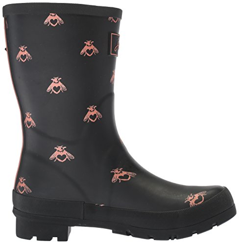 Joules Women's Mollywelly Rain Boot, Black Love Bees, 9 Medium US by Joules (Image #7)