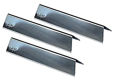 """Hongso 15.3"""" Stainless Steel Flavorizer Bars Replacement for Weber Spirit 200 Series, Spirit E/S 200 & 210 (2013-2016) Gas Grills, Grill Heat Plates for Weber 46100001 2013, 46110001, 7635, Set of 3"""