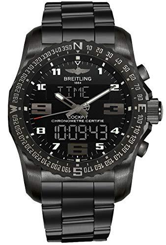 (Breitling Cockpit B50 Black Titanium 43mm Case Men's Watch)