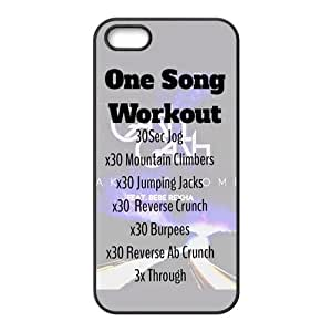 Painted one song workouts TPU Hard back phone Case cover Iphone 5s 5 by runtopwell