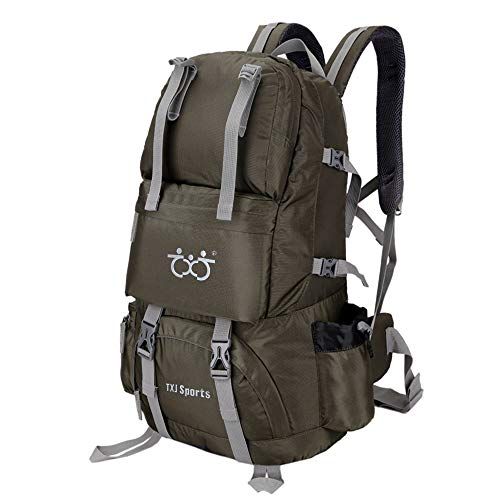 - Boruizhen Outdoor Hiking Backpack 40L Sports Travel Backpack for Climbing Camping Trekking (Army Green)
