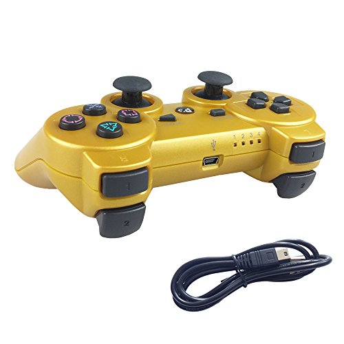 ps3 wireless controller gold - 1