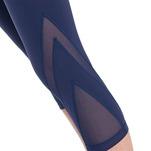 Mesh Deportiva Gsyjk Navy De Yoga Ropa Gimnasio Transpirable Deportes Rápido Pantalones Medias Secado Leggings Mujeres Fitness Slim Entrenamiento Correr 6qxr60