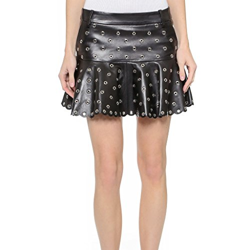 Discount Leatherexotica Womens Studded Women Leather Trendy Tailored Skirt hot sale