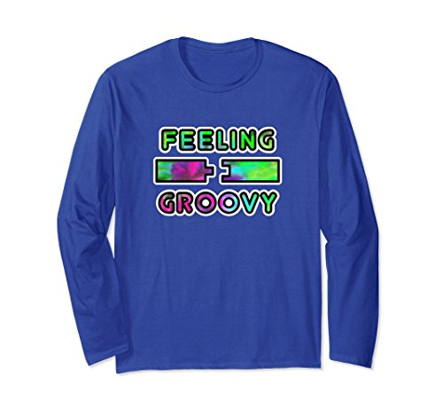 Unisex Feeling Groovy Funny Woodworking Long Sleeve Tee Small Royal Blue