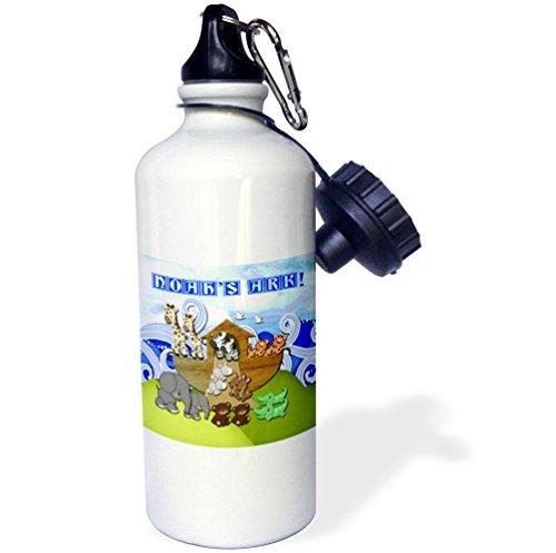 Beverly Turner Noahs Ark Design - Animals on Ark, Noahs Ark - 21 oz Sports Water Bottle (wb_195836_1)