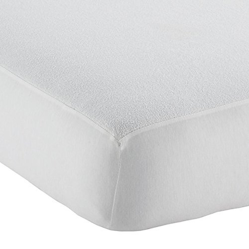 Waterproof Crib Size Fitted Mattress Cover Made with Organic Bamboo, Natural Color by Little-Likes