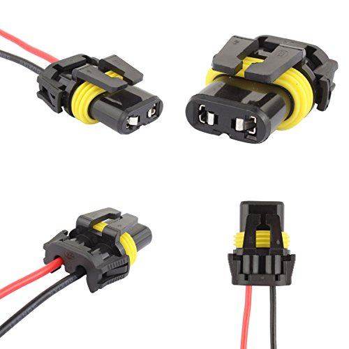 TOMALL 9005 HB3 9006 HB4 Bulb Sockets Adapter Wiring ... on