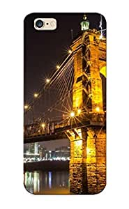 Graceyou High Quality Shock Absorbing Case For Iphone 6 Plus-john A. Roebling Suspension Bridge