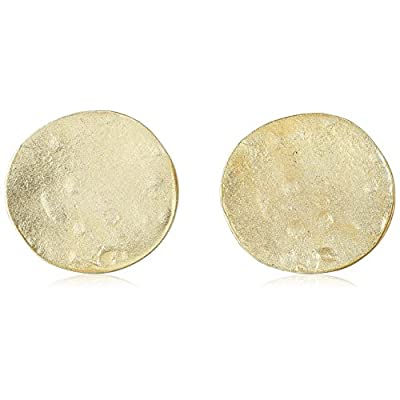 Discount Kenneth Jay Lane Satin Gold Coin Clip-On Earrings free shipping