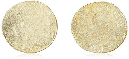 Kenneth Jay Lane Satin Gold Coin Clip-On Earrings