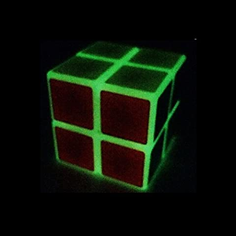 Glow in the dark Magic Cube Puzzle Cube 2×2×2 Plastic Speed Cube for Children and Beginners - Plastic Photo Cube