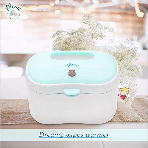 (Upgraded) MEMI Dreamy Wipes Warmer | Holder | Easy-USE | Perfect Gift |(Sky Blue)