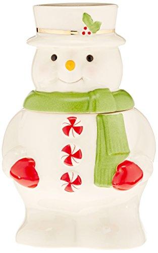 - Lenox Peppermint Snowman Treat Jar