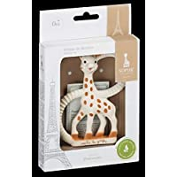 Sophie the giraffe Teething Ring, Brown/ White