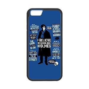 "Case for iPhone6 4.7"",Custom Detective Sherlock Phone Case Laser Technology for iPhone 6 4.7 Inch,Detective Sherlock Snap on Case Cover for Apple iPhone 6(Black/White)"